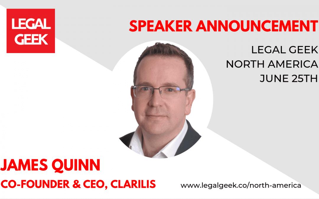 Clarilis to speak at Legal Geek North America